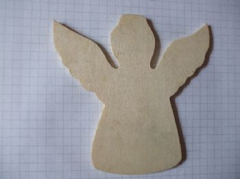 Birch Ply Wooden Angel Wood Craft Shape